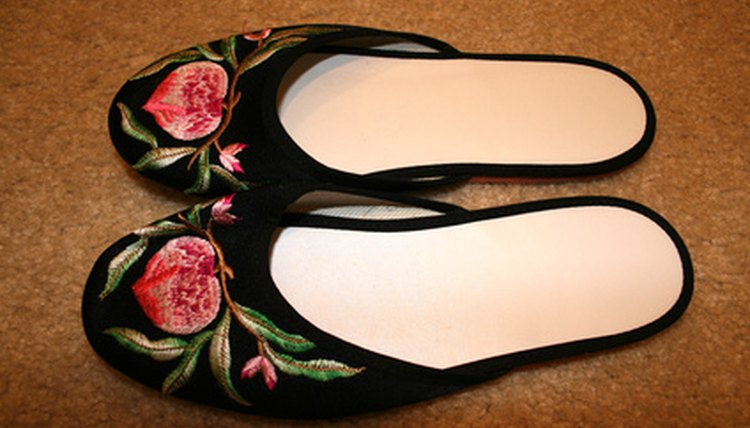 Many Chinese people remove their shoes and wear slippers in the home.