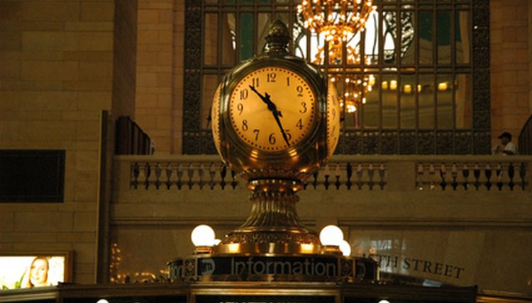 The huge Seth Thomas clock, a focal point, Grand Central Terminal, New York City