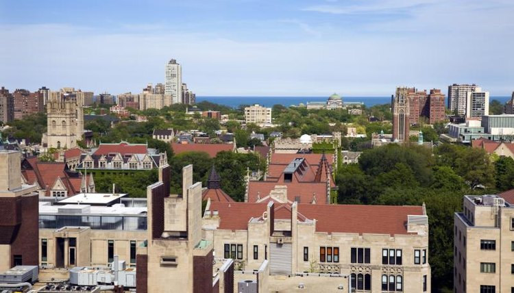 An aerial photograph of the University of Chicago campus.