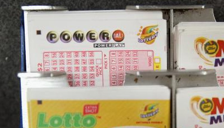 Lottery cards, store, Chicago, IL.