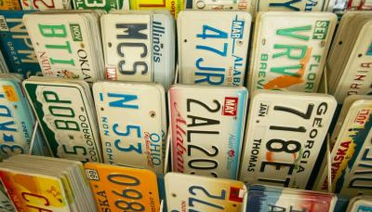 local vintage, stores, old license plates