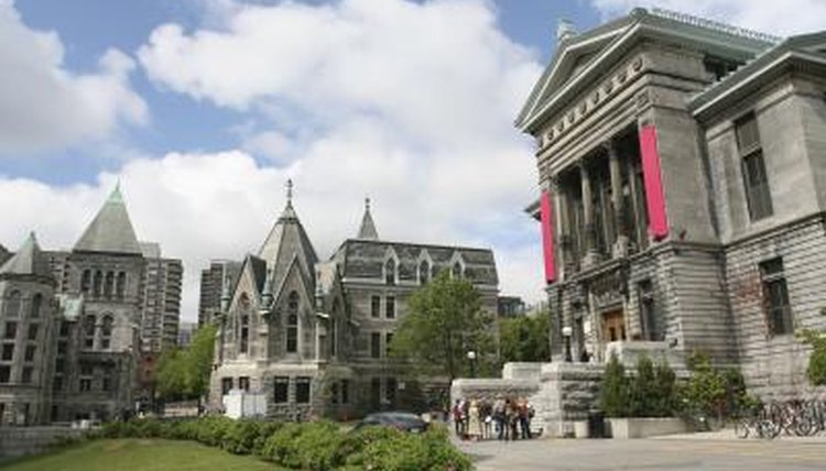 McGill campus in Montreal