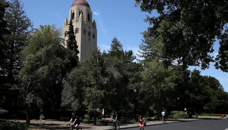 Hoover Tower on the Stanford University campus
