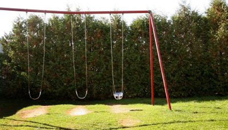 Diy wooden swingset on a budget how to adult for How to build a swing set for adults