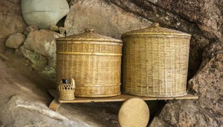 Chinese wooden baskets.