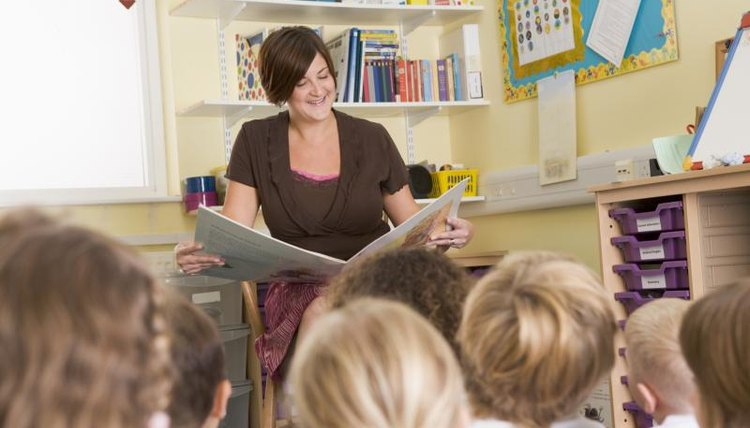 A teacher reads to her students