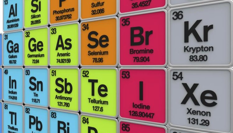 Atomic number and atomic mass can be found in the periodic table of the elements.