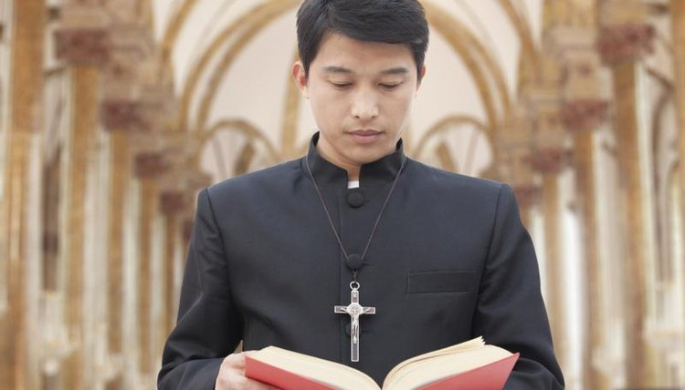 Young man in training to become priest.