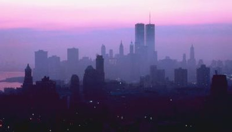 Skyline of New York with Twin Towers