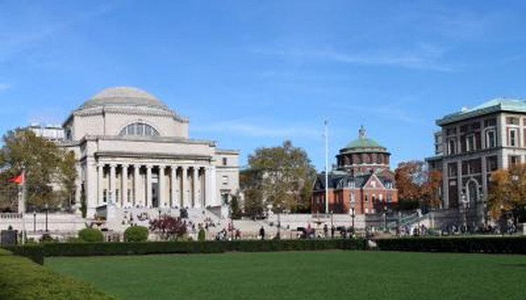 The Columbia University campus on a sunny day