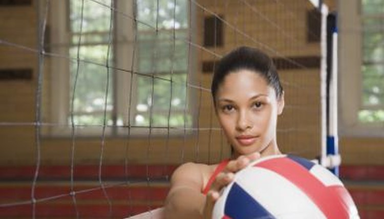 Female volleyball player.