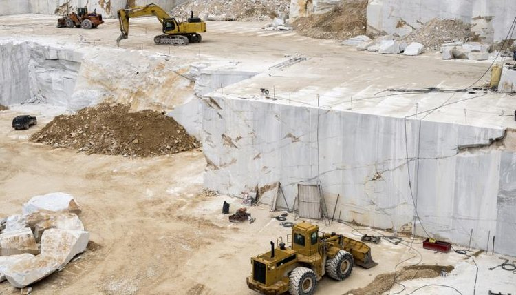 A marble quarry being mined.