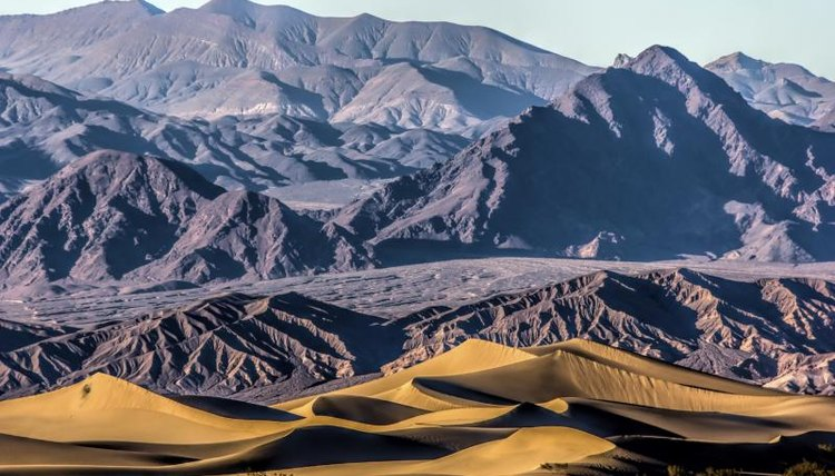 Sand dunes and mountains within Death Valley