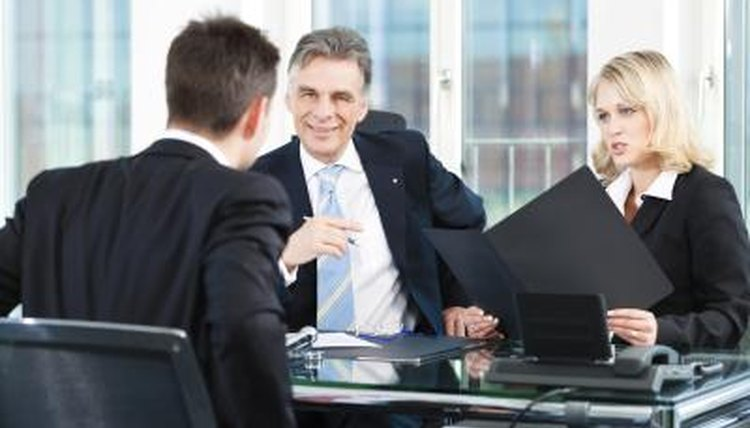 Man sitting in job interview