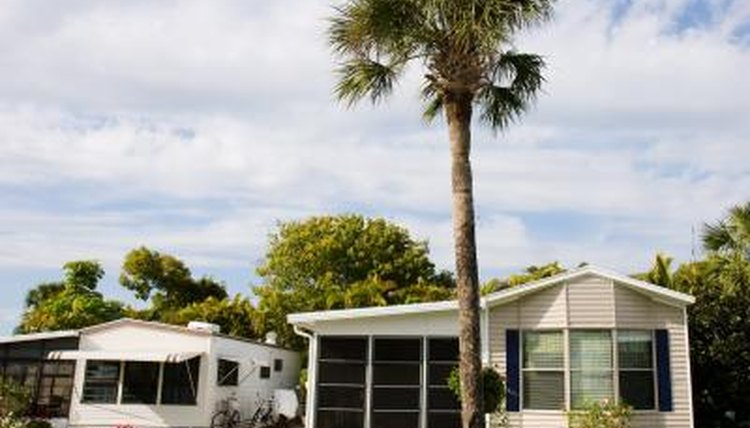 Two mobile homes in Florida community