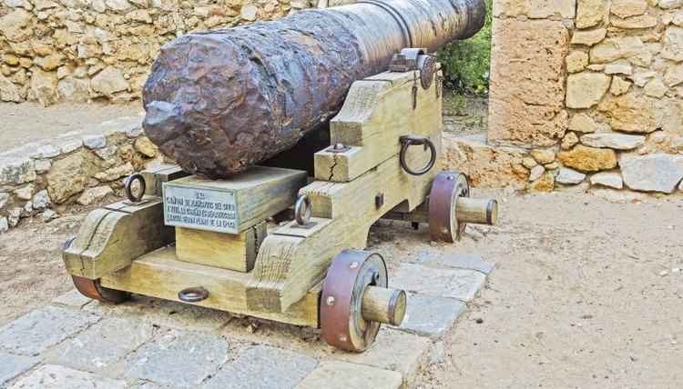 Cannon on a ancient in Tarragona, Catalonia, Spain