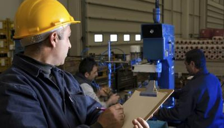 An employee conducts a safety check.