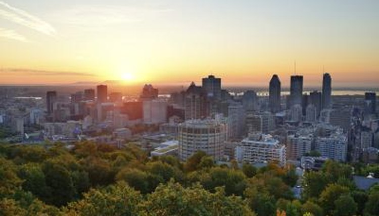 View overlooking the city of Montreal