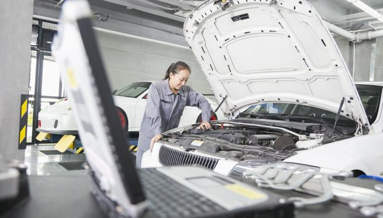 Postsecondary education can lead to a career as an auto technician.