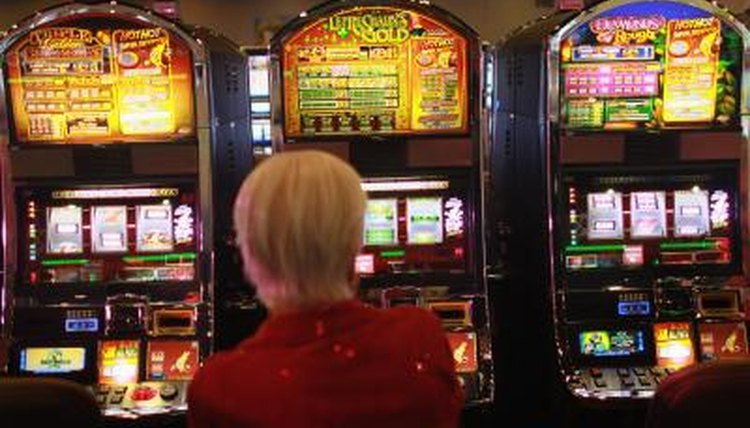 Woman, her luck, slot machine