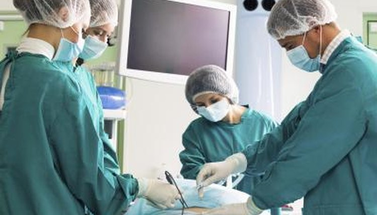 Image of a surgical team in an operating room.