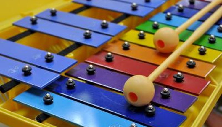 Xylophone and rhythm sticks.