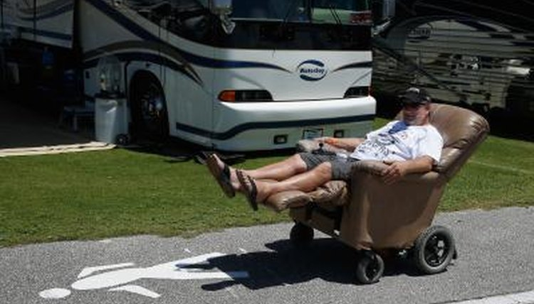 Man, his motorized lounge chair