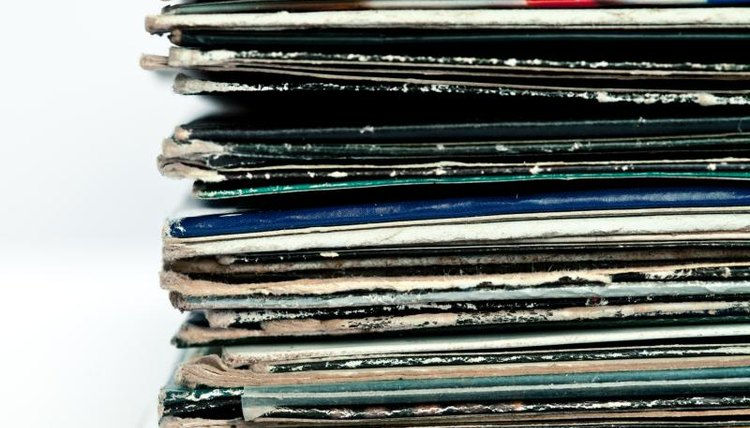 records, a pile