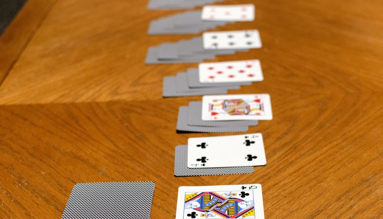 the remaining cards, their own stack, your first upturned card, Your solitaire game
