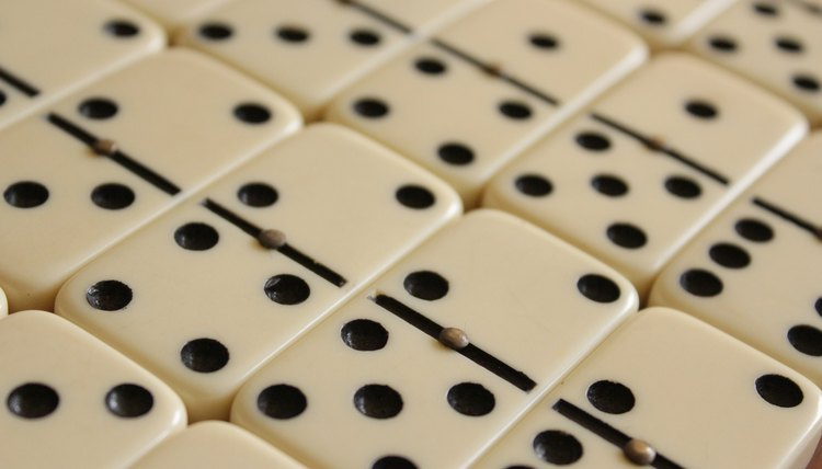 A set, double-six dominoes, 28 dominoes, every possible combination