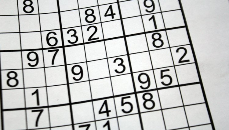 Sudoku puzzles teach patterns, sequencing and the process of elimination.
