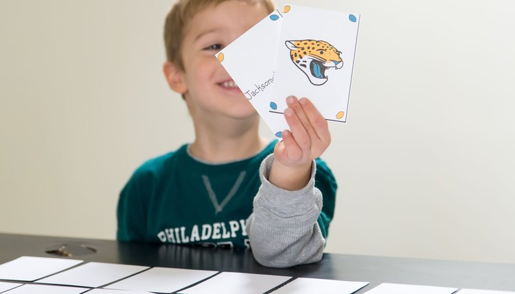 NFL Memory Card Game for Kids