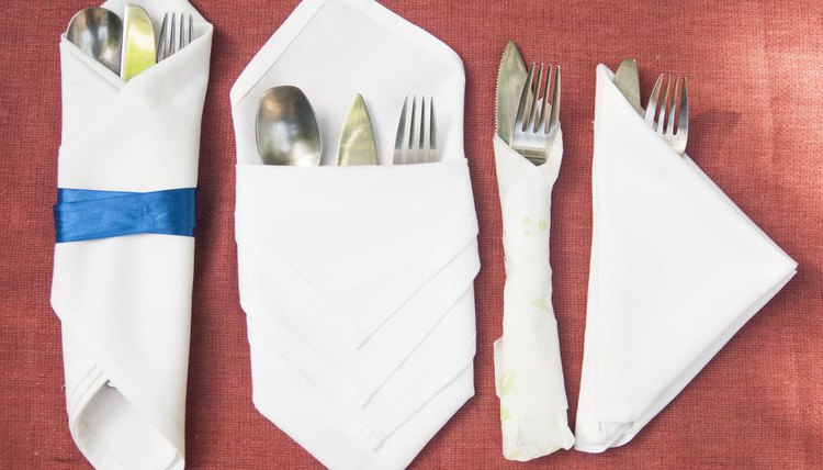 How To Fold Cutlery Into A Napkin Synonym