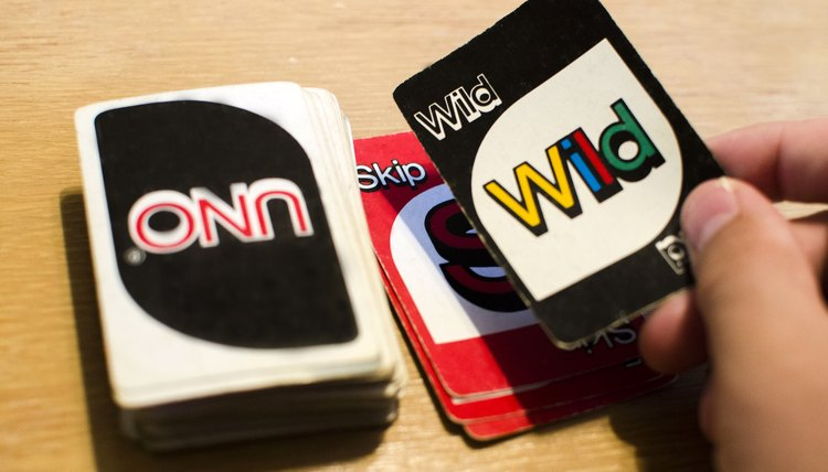 Uno, two types, wild cards, the player