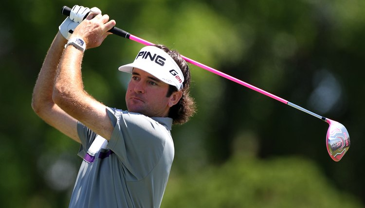 Tall players like Bubba Watson have to use longer shafts in all of their clubs.