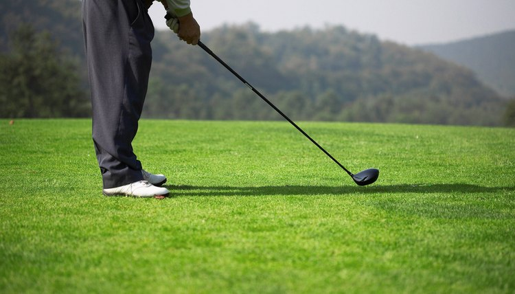 A golf club is made up of a clubhead, shaft and grip.