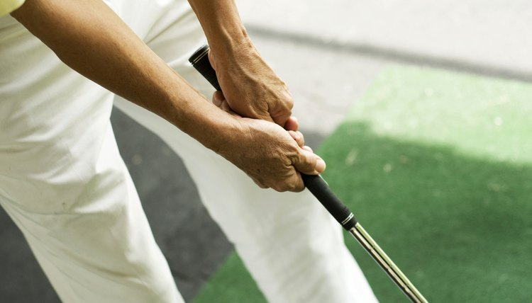 There are several different ways to grip certain types of clubs, see your local pro to determine what is best for you.
