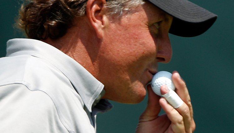 Manufacturers call out their big guns -- like Phil Mickelson -- to help tout the benefits of their new golf balls.