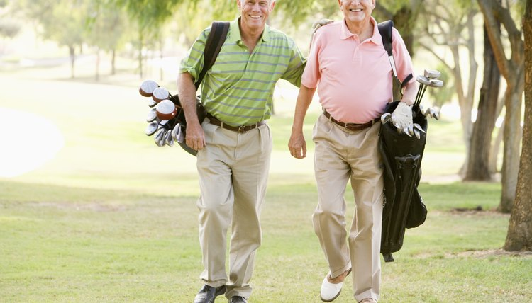 Golfing is an effective way for seniors to keep active.