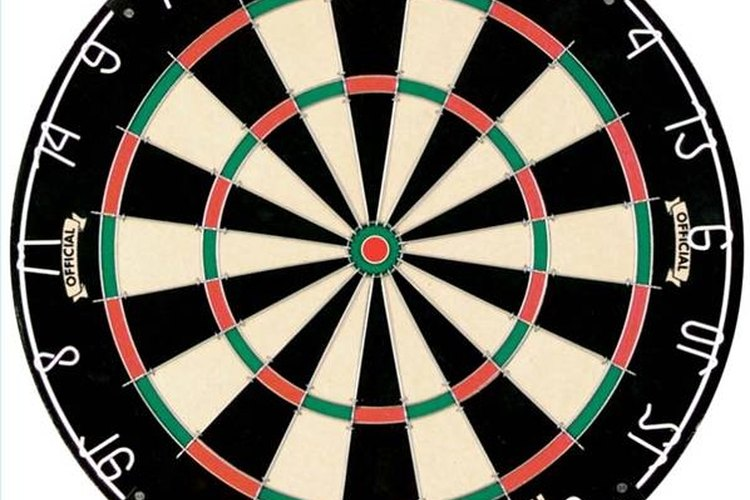A regulation dartboard