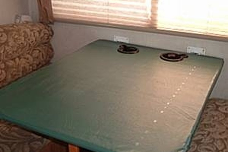 If your table folds, you can reclaim space in your RV.