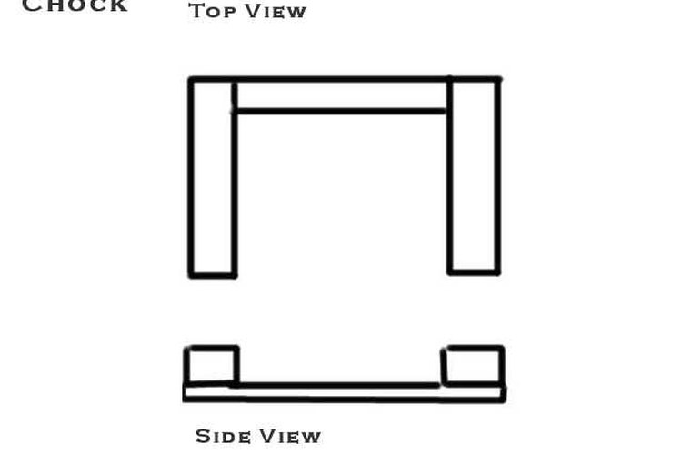 Side and top views of a simple chock