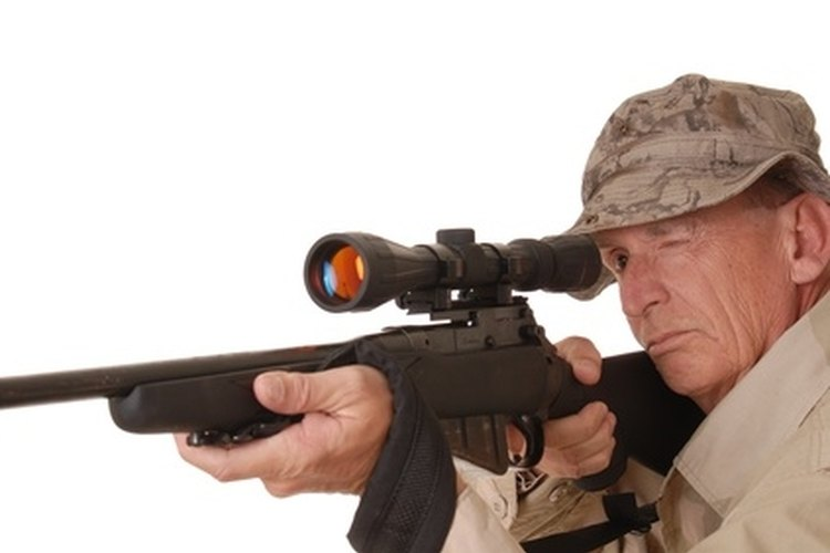Adjust a rifle scope by sighting-in to achieve the best accuracy.
