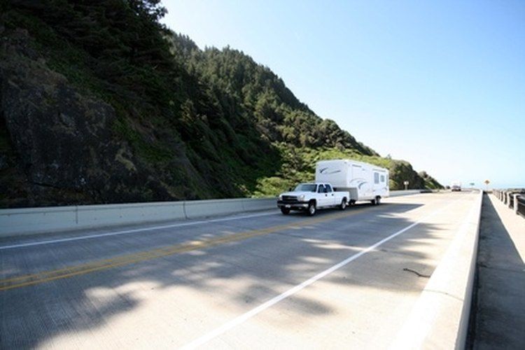 Towing a motorcycle behind a fifth wheel is illegal in some states.