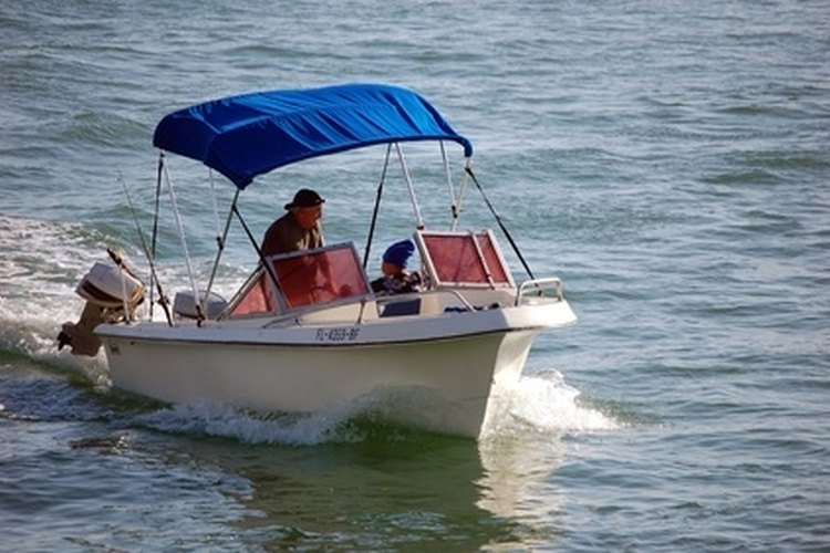 The revolutions per minute of an outboard motor is measured by a tachometer.