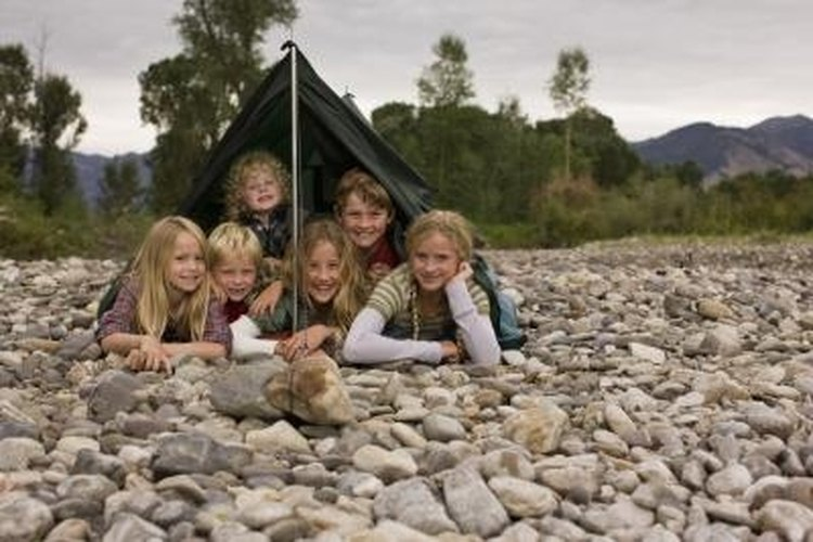 The simplest shelter is ideal for basic camping purposes.