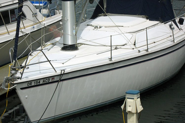 Boats with fiberglass hulls use wooden frames.