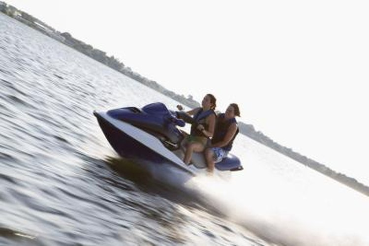 De-winterize your jet ski before putting it in the water.