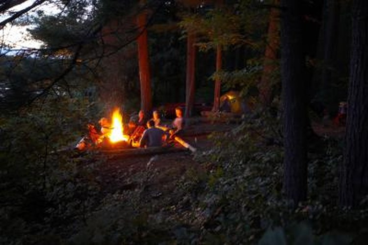 Campfire programs encourage camaraderie and fellowship.
