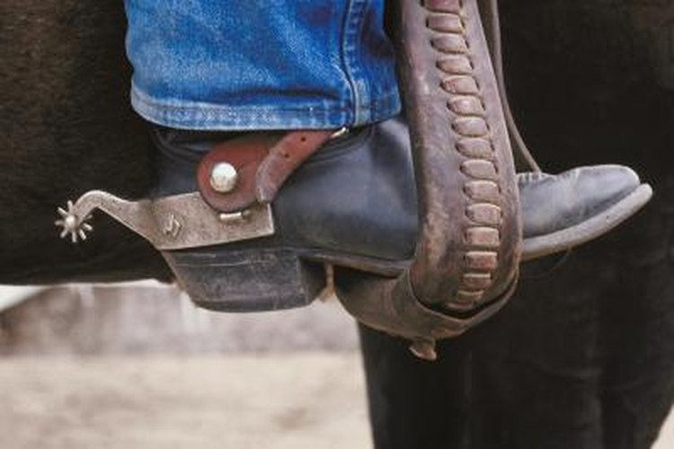 Cowboy's boots with spurs.